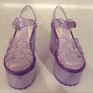 1a15e9ac3202 UNIF Shoes - UNIF Purple Hella Jelly Platform Sandals